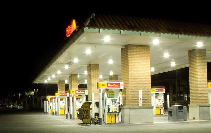 Lawrence & Sons Gas Station LED Lighting